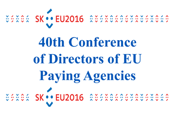 Banner - 40th Conference of Directors of EU Paying Agencies