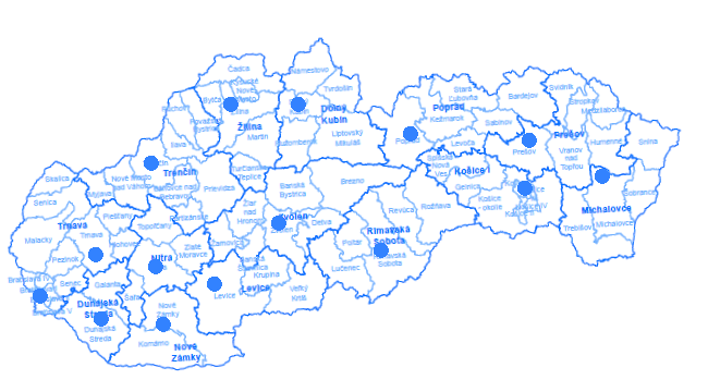 3639b4858 Kde nás nájdete (mapy) / PPA - Pôdohospodárska platobná agentúra
